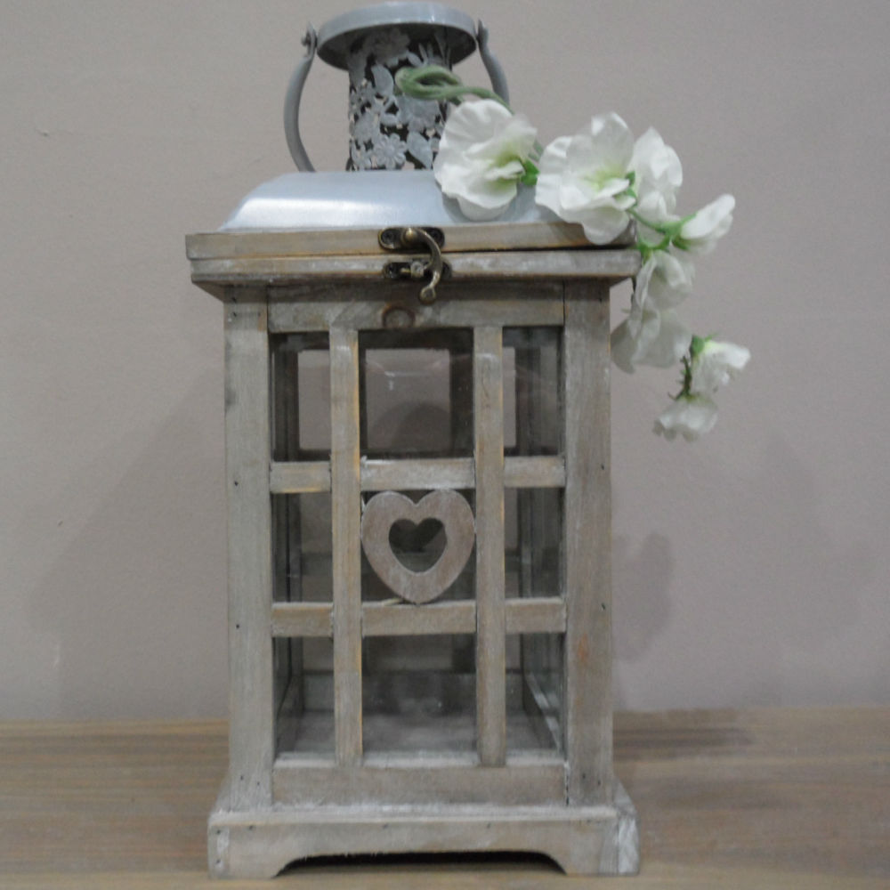 Lanterna Shabby Chic Old Grey